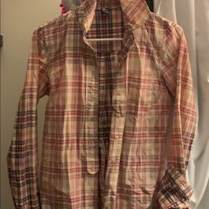 Free People cotton deigned just right as flannel